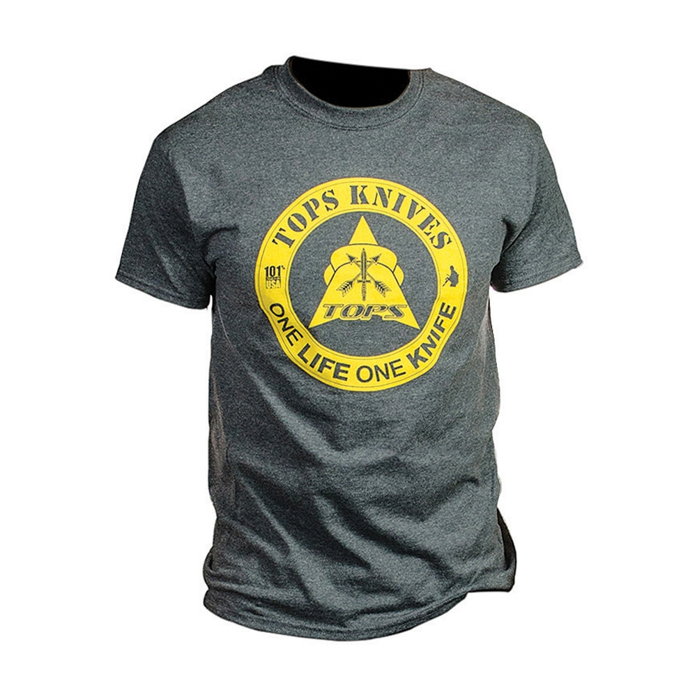 TOPS Knives TOPS T-Shirt One Life Dark Heather